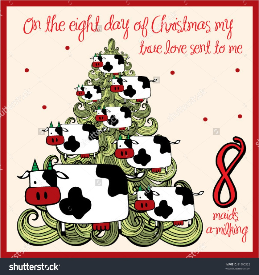 The-Days-Of-Christmas-Eight-Day-Eight-Maids-A-Milking